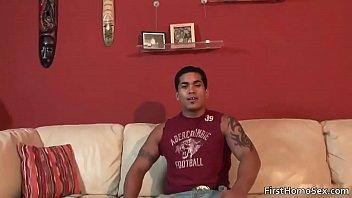 Hot gay dude gets naked and masturbates gay sex