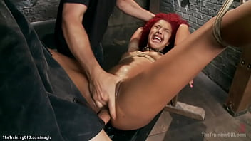 Ginger ebony trained and anal fucked