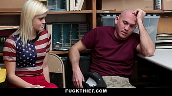 Girlfriend Fucked By officer For Shoplifting While Her BF Sits Beside
