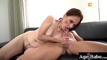Sexy granny Alice Sharp wants hot stud Dom Ully's big hard cock