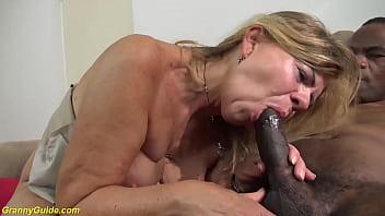 first big black cock sex for grandma