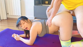 OBOKOZU - Yoga Wife Gets Surprise Sex - Pervy Husband Fucks Japanese Hotwife - Find us on Onlyfans! 14 min