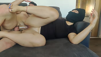 Fucking arab with hijab and a huge ass with monster cock sleeve penis extenion huge orgasm