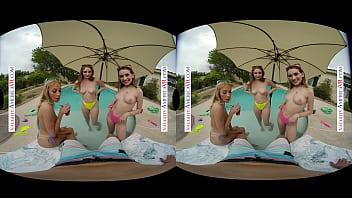 Naughty America - Summer vacationing babes Khloe Kapri, Penelope Kay, and Sera Ryder hook up with their rental owner