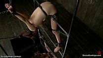 Asian slut tormented in devices