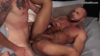 Bareback gay sex. Hot guy gets fucked hard 24 min