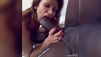 Yovanka sucking a huge black cock 6 min
