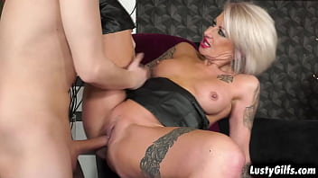 Dominant Granny Kathy is with Nikki today having some FUCKING tryout if he can survive her awesome PUSSY