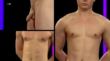 Naked Attraction - Man Tries To Hide Semi Erection (Boner Live TV Television CFNM) 2 min