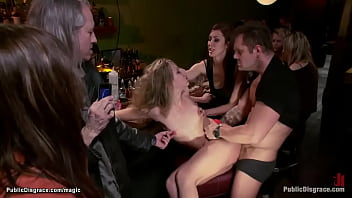 Blond public humiliated and fucked
