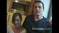 Tiffany and Jez filmed in the kitchen