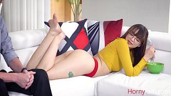 Horny Nerd Teen Wants Uncle's Cock- Honey Hayes
