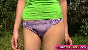 Hot slim teenie nailed outdoors