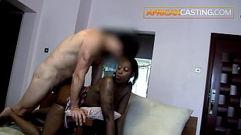 Black African Amateur Sucking her Way Into a Model Contract