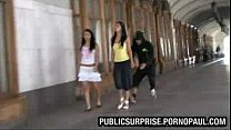 Girls breasts exposed in public