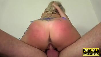 Submissive slut throating Pascale 12 min