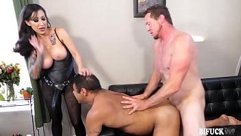 Lily Draven Giant Strapon Threesome!