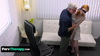 Perv Therapist Has Some Special Treatment For Cute Redhead Scarlet Skies To Fix Her Fear Of Men