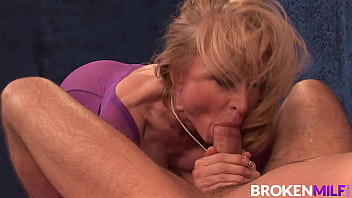 BrokenMILF - Mature Masseuse Nina Hartley Can't Resist A Cock 10 min