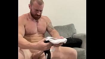 Bodybuilder Paid to Shoot Huge Load in Some Guy's Jockstrap HOT Big Dick Alpha Musclebear Massive Cock Huge Cumshot