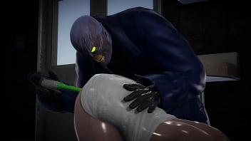 Jill Valentine squirts when Nemezis puts a vibrator up her ass - Resident Evil Porn