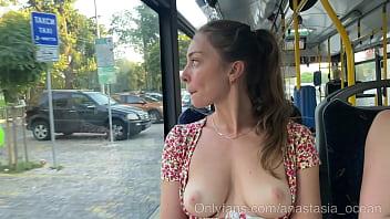 Emerald Ocean toples in public bus. 6 min