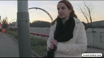 Pretty redhead Zuzana gets tricked by the driver to have sex for cash