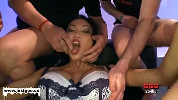 Busty Asian babe gets her holes fucked