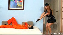 Officer Janet Interracial 3some