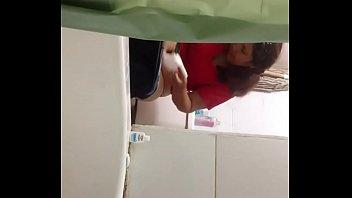 Spying on aunt bathroom
