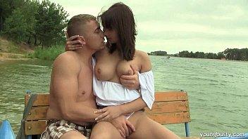 Busty teen Rita fuck dick at the lake