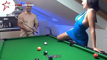 Wild sex on the pool table