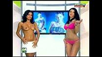 Goluri si Goale ep 15 Gina si Roxy (Romania naked news) 20 min