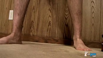 Sticky Boy Feet Coated In Cum