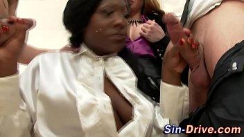 Black euro maid spitroast 7 min