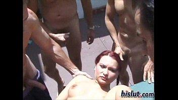 Katja got gang banged