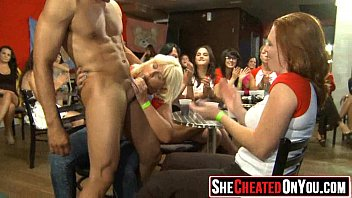 24 Strippers get blown at cfnm sex party  17