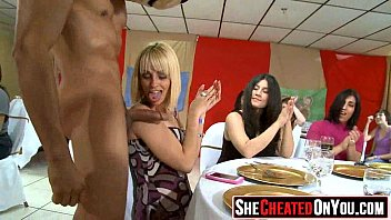 11 Strippers get blown at cfnm sex party  43