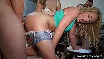 Hot teens at orgy sex party