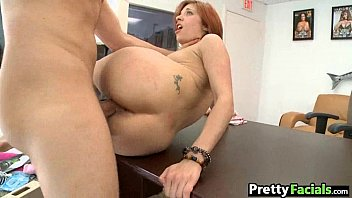Pretty redhead takes a huge facial Brady Paige 1 1.4