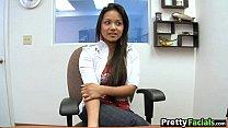 Hot asian fuck and facial  Lana Violet 1.1