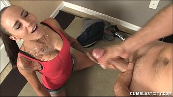 Hot Teen Gets Blasted WIth Jizz