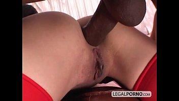 Big black cock fucking two horny girls in stockings GB-4-03