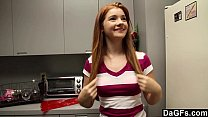 Redheaded Teen Ava Sparxxx Gives Perfect Blowjob