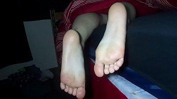cumming on s. gf's soles