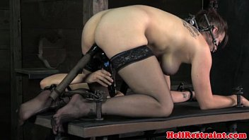 Mouth spider gagged skank gets punished