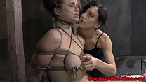 BDSM titty t. Bella Rossi caned