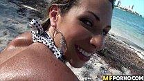 Crazy beach sex with latina 3