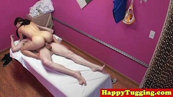 Real jap masseuse tugging customers dick 8 min