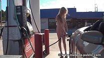 Naked at the Pump Chloe Parker